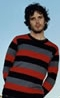 Bret McKenzie and the stripey sweater