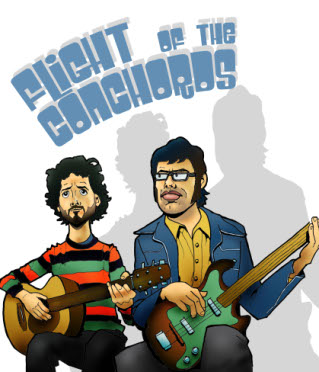 Flight of The Conchords poster by Steven