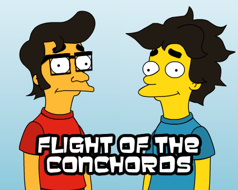 Flight of The Conchords as the Simpsons