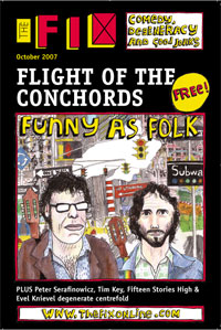 Flight of The Conchords cover - Fix magazine October 2007