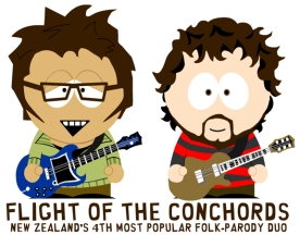 Flight of The Conchords - South Park stylee
