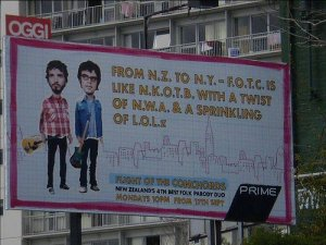 Flight of The Conchords billboard sign