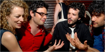 Loren Horsley, Jemaine Clement, Bret McKenzie and Taika Waititi