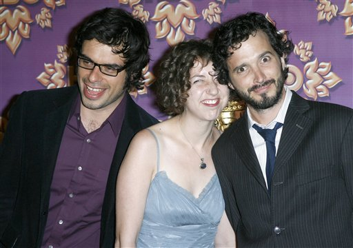 Flight of The Conchords, Jemaine Clement, Bret McKenzie with Kristen Schaal at the HBO Emmy's after party