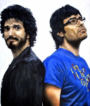 Flight of The Conchords oil painting by Laurie