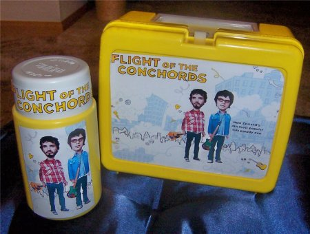 Flight of The Conchords lunchbox and drinks bottle